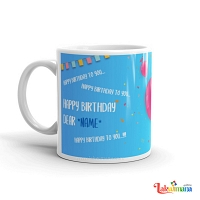 Birthday Song Blue Mug